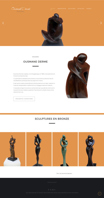 Creation site Internet sculpteur