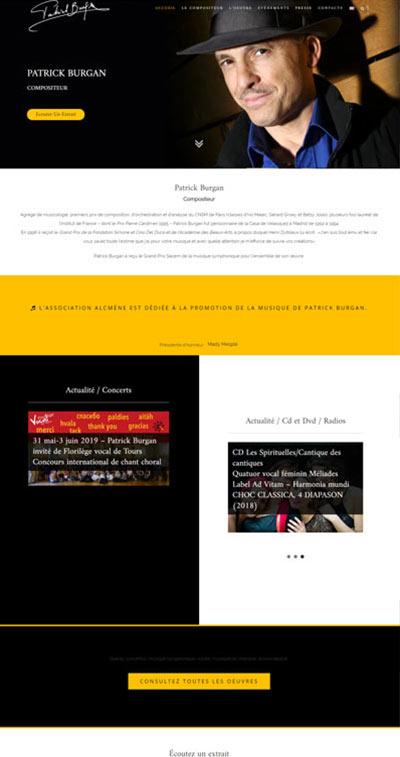 Création site web burgan