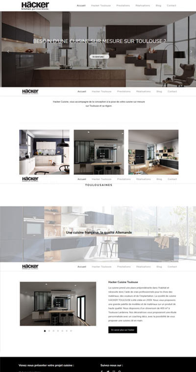 création site internet cuisiniste
