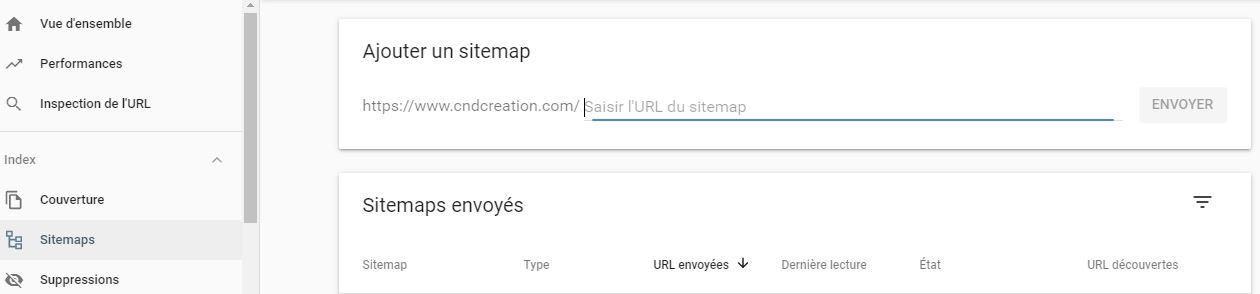 Supprimerpage google sitemap