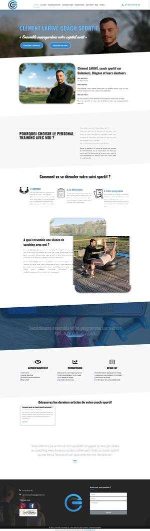 Réalisation du site Clementcoachingsp.com